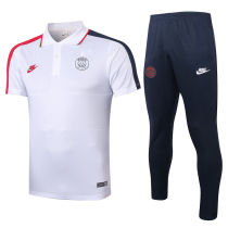2020/21 PSG Paris White Polo Tracksuit