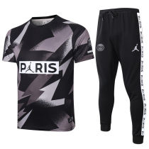 2020/21 PSG Paris Jordan Gray And Black Tracksuit