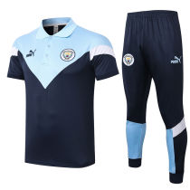 2020/21 Man City Royal Blue Polo Tracksuit