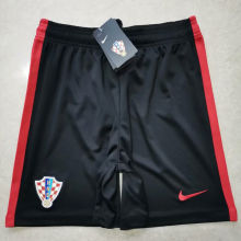 2020 Euro Croatia Away Black Shorts Pants