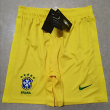 2020 Brazil Yellow Shorts Pants
