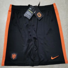 2020 Euro Netherlands Away Black Shorts Pants