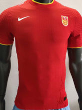 2020 China Home Red Player Version Soccer Jersey