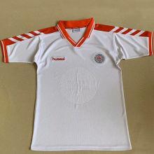 1998 Denmark Away White Retro Soccer Jersey