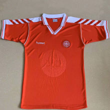 1998 Denmark Home Red Retro Soccer Jersey
