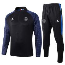 2020 PSG Paris Royal Blue Half Pull Sweater Tracksuit