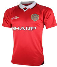 1999 Man United Home Retro Soccer Jersey