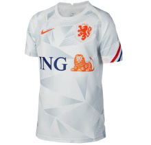 2020 Euro Netherlands Away White Fans Soccer Jersey