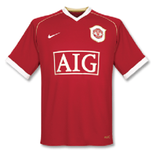 2006-2007 Man Utd Home Retro Soccer Jersey