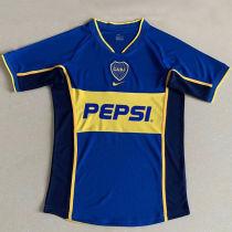 2002 Boca Home Retro Soccer Jersey