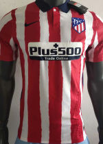 2020/21 Atletico Madrid Home Player Version Soccer Jersey
