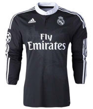 2014-2015 RM Black Dragon Retro Long Sleeve Soccer Jersey