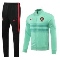 2020/21 Portugal Light Green Jacket Tracksuit