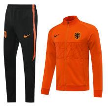 2020  Netherlands Orange High Collar Jacket Tracksuit