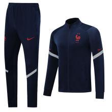 2020/21 France Royal Blue Jacket Tracksuit