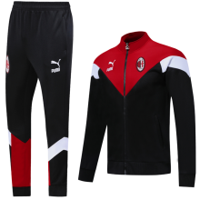 2020/21 AC Milan Black and Red Jacket Tracksuit