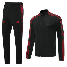 2020/21 Man Utd Black Webbing Jacket Tracksuit