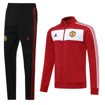 2020/21 Man Utd Retro Classic Red Jacket Tracksuit