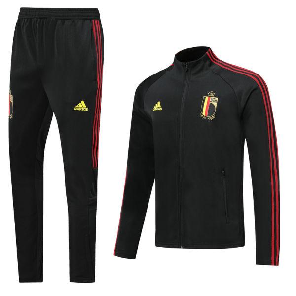 2020/21 Euro Belgium Black Jacket Tracksuit