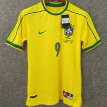 1998 Brazil Home Yellow Retro Soccer Jersey(No small fonts on the chest)