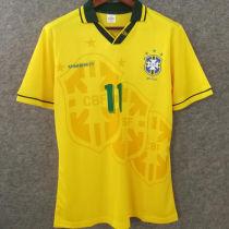 1994 Brazil Home Yellow Retro Soccer Jersey