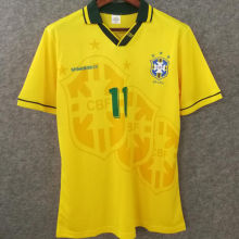 1994 Brazil Home Yellow Retro Soccer Jersey