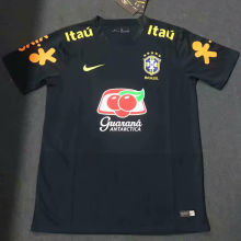2020 Brazil Black Training Soccer Jersey