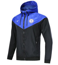 18/19 Chelsea Black And Blue Windbreaker