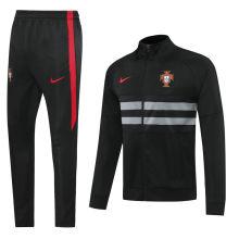 2020/21 Portugal Black Jacket Tracksuit