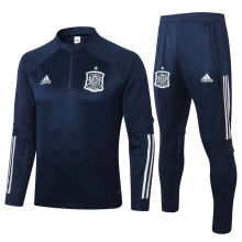 2020 Spain Royal Blue Sweater Tracksuit
