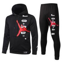 2020/21 PSG JD Black Hoodie Training Tracksuit Full Sets