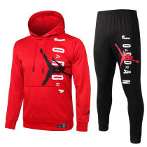 2020/21 PSG Paris Jordan Red Hoodie Training Tracksuit Full Sets