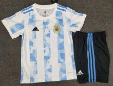 2020/21 Argentina Home Kids Soccer Jersey