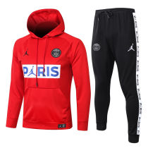 2020/21 PSG Paris Jordan Red Hoodie Training Tracksuit