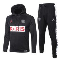 2020/21 PSG Paris Jordan Black Hoodie Training Tracksuit