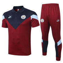 2020/21 Man City Purplish Red Polo Tracksuit