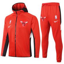 2020/21 Bulls Red Hoody Zipper Jacket Tracksuit(公牛)