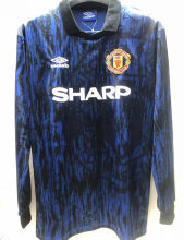 1992-1993 Man Utd Away Long Sleeve Retro Soccer Jersey