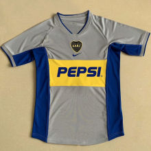2002 Boca Away Retro Soccer Jersey