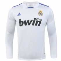 2010/11 RM White Home Retro Long Sleeve Soccer Jersey