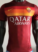 2020/21 Roma Home Red Player Version Soccer Jersey