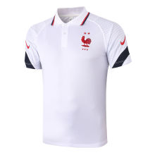 2020/21 France White Polo Short Jersey