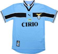 1998-1999 Lazio Home Blue Retro Soccer Jersey