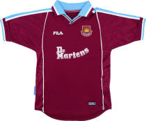1999-2000 West Ham Home Retro Soccer Jersey