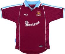 1999-2000 West Ham Home Retro Soccer Jersey