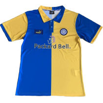 1998 Leeds United Away Yellow Retro Soccer Jersey