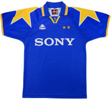 1995-1996 JUV Away Blue Retro Soccer Jersey