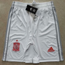 2020 Euro Spain Away White Shorts Pants