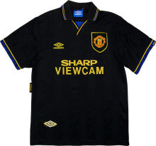 1994 Man Utd Away Black Retro Soccer Jersey