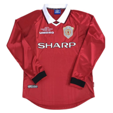 1999 Man United Home Long Sleeve Retro Soccer Jersey